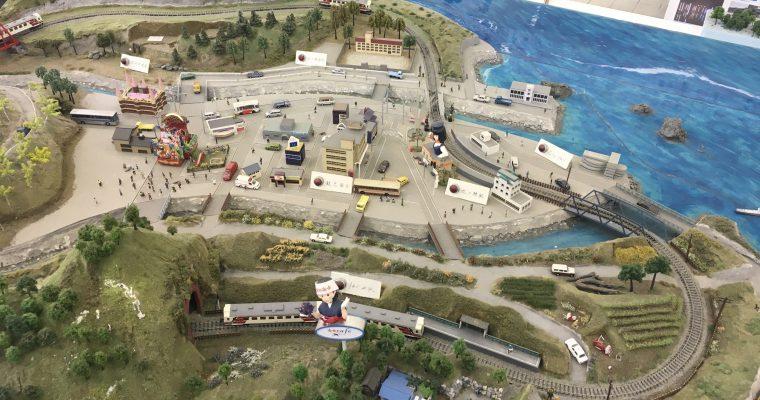 あまちゃんハウス「北三陸市全景模型」(岩手県久慈市・2018年6月)