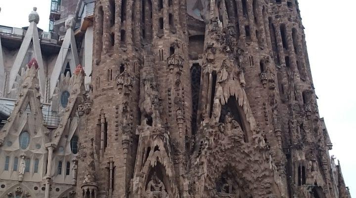 サグラダファミリアの模型(スペイン・バルセロナ・2016年3月)