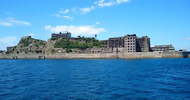 軍艦島の模型(長崎県長崎市[端島]・2015年9月)