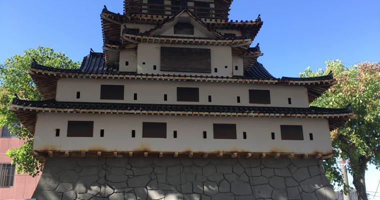 萩城の6分の1模型&萩城周辺のジオラマ(山口県萩市・2018年10月)