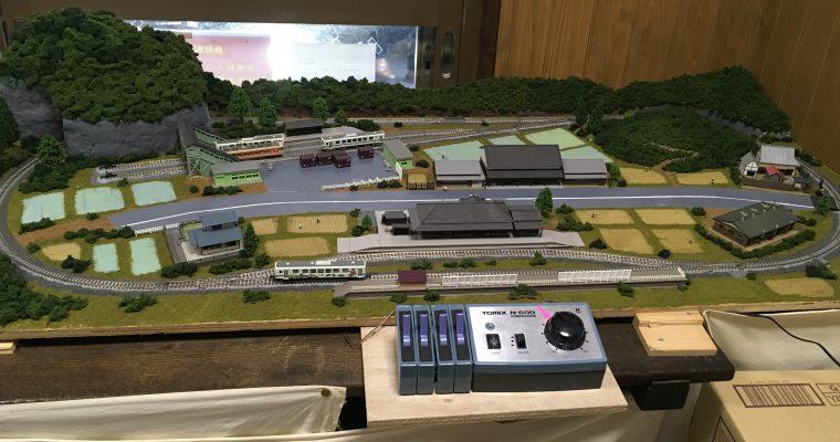 若桜鉄道のジオラマ(鳥取県八頭郡若桜町・2018年11月)