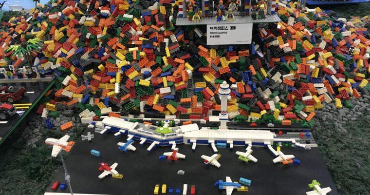 済州空港のレゴブロック展示(韓国・済州島・2018年12月訪問)