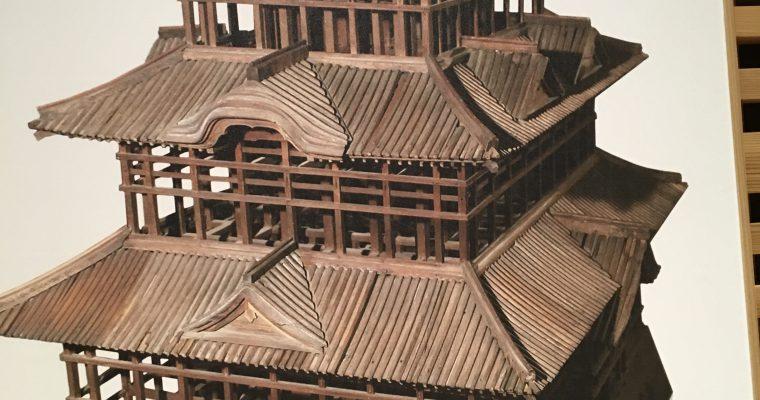 小田原城内の城の模型(神奈川県小田原市・2019年1月訪問)