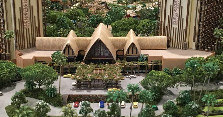 ディズニーバケーションクラブ内「AULANIのDISNEY RESORT&SPAの全景模型」(ハワイ州・ホノルル・2019年2月)