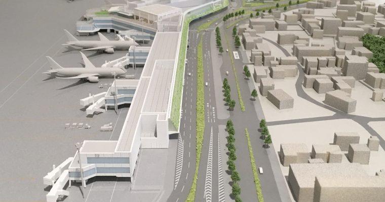 福岡空港国内線ターミナル「空港模型」(福岡県福岡市・2019年3月)