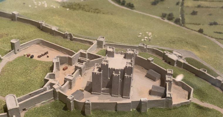 ドーバー博物館内にあるドーバー城周辺のジオラマ(イギリス・ドーバー・2019年GWに訪問)