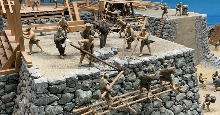 長浜城歴史博物館「築城過程のジオラマ」(滋賀県長浜市・2019年12月訪問)