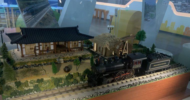 義王駅で見つけたジオラマ(韓国・義王市・2019年10月)
