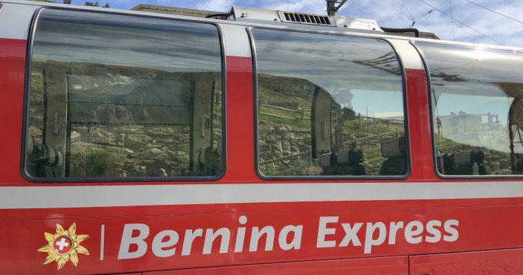 ベルニナ急行(レーティッシュ鉄道・スイス・クール↔イタリア・ティラーノ往復・2019年8月乗車)
