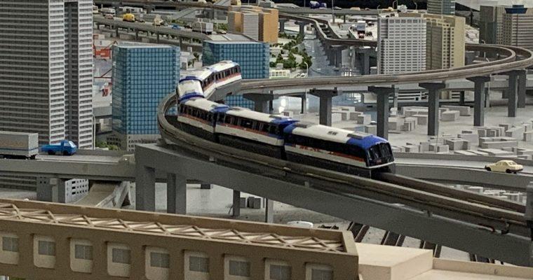 モノレール羽田空港駅に置いてある羽田空港駅周辺の模型(東京都大田区・2020年2月)