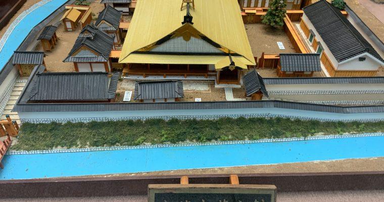 直方藩主居館&東蓮寺藩主館の模型(福岡県直方市・2020年2月)