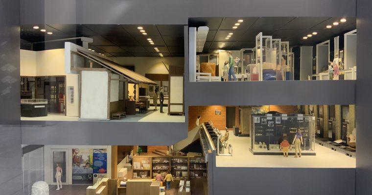 たばこと塩の博物館「塩の精製過程のジオラマと博物館の模型」(東京都墨田区・2019年12月訪問)