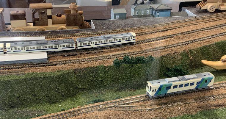 筑豊鉄道・田川井田駅で見つけたジオラマ(福岡県田川市・2020年2月)